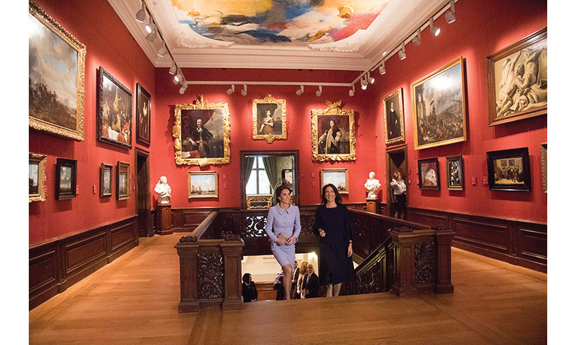 Kate also viewed the temporary exhibition, At Home in Holland: Vermeer and his Contemporaries from the British Royal Collection. 