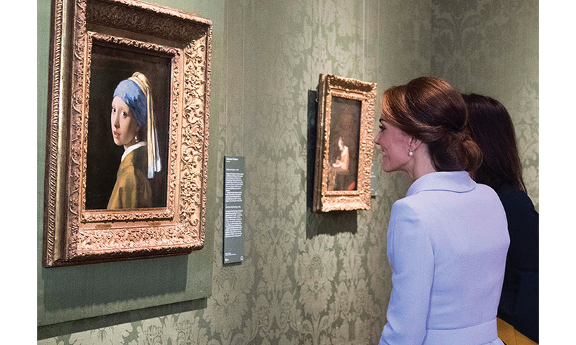 She was particularly taken by Vermeer's painting, Girl with a Pearl Earring - the museum's most famous artwork.