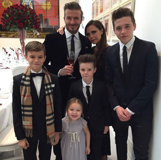 Victoria Beckham, who is married to legendary soccer player David Beckham, is a proud mother to her four children, Brooklyn, 17, Romeo, 14, Cruz, 11, and five-year-old Harper.