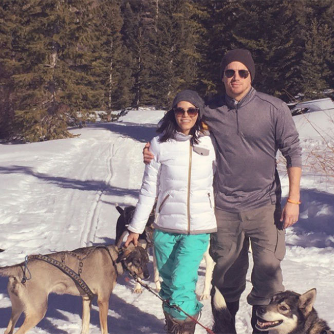 Channing Tatum and wife Jenna Dewan-Tatum enjoyed a romantic hike in the snow during a winter getaway. 