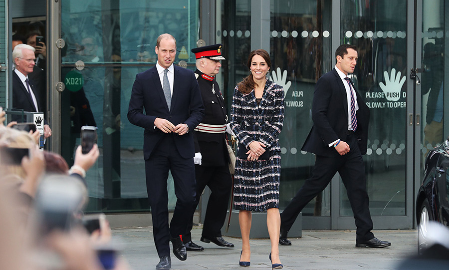 Prince William and Kate visited the National Football Museum in Manchester.
