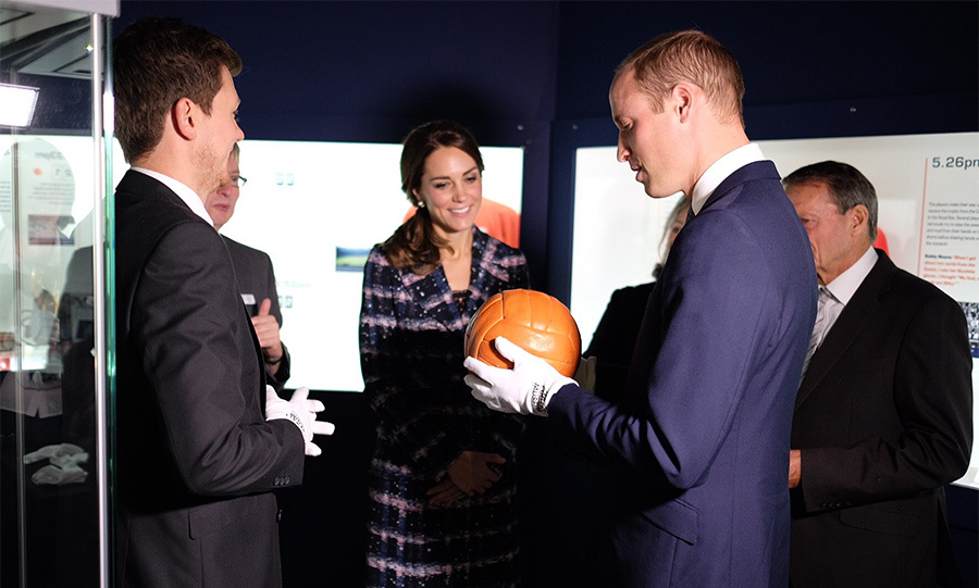 The Duke got his hands on the 1966 World Cup football.