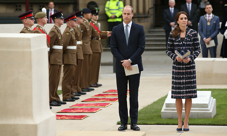 William and Kate then headed to Manchester Town Hall where they took part in a ceremony at the Cenotaph.