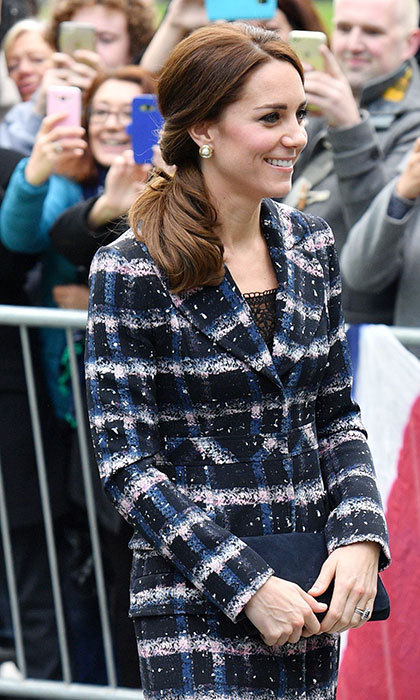 The Duchess of Cambridge has wowed fans by adding a twist to a classic ponytail. 