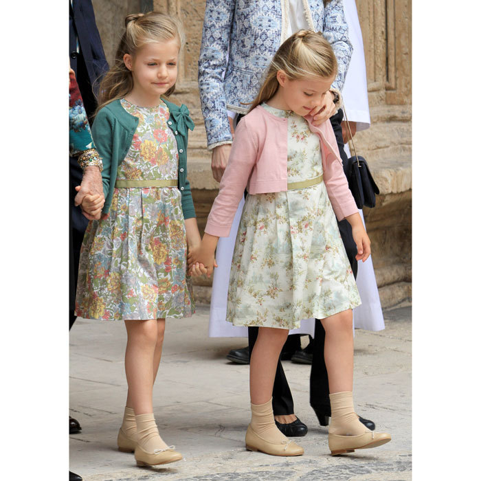 At the 2013 service they wore matching floral frocks and cardigans.