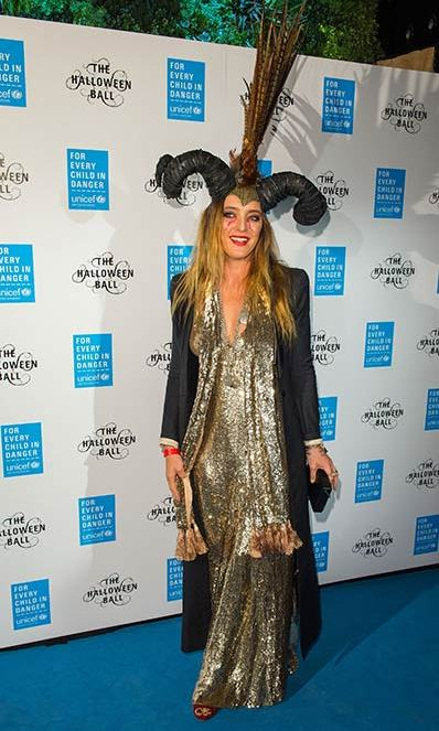 Fashion designer, and Duchess of Cambridge favourite, Alice Temperley channelled Maleficent at the UNICEF bash. 
