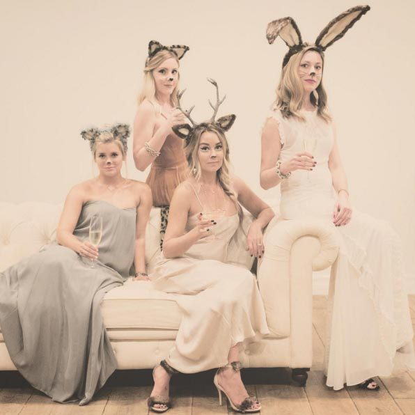 Lauren Conrad and friends as 'party animals'.
