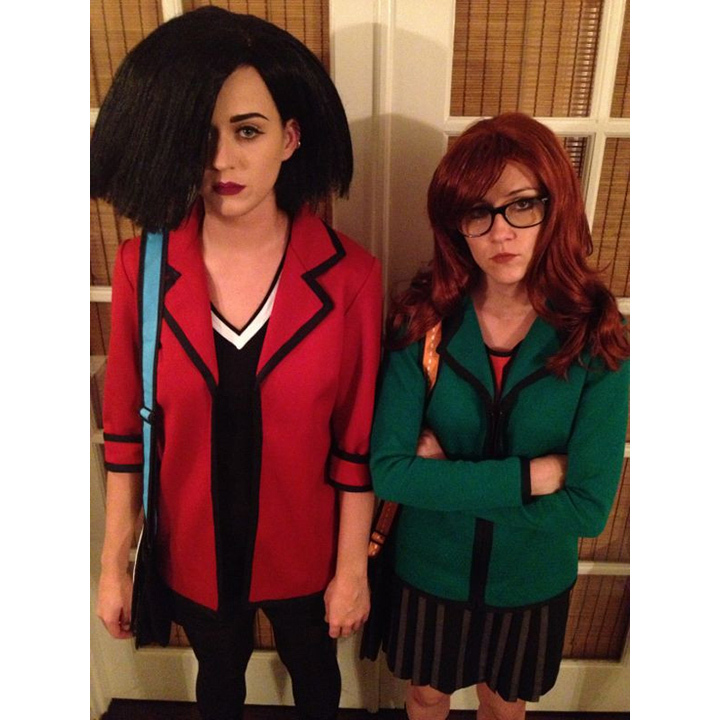 Katy Perry and actress Shannon Woodard channelled the 90s' animated series <i>Daria</i>.