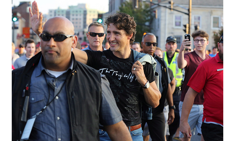 Justin was one of thousands of fans who descended on downtown Kingston, Ont., to watch The Tragically Hip rock the stage on the final stop of their farewell Man Machine Poem tour on Aug. 20. The politician even received a shout-out from frontman Gord Downie for addressing issues facing the country's Indigenous community. <br>Photo: © CP