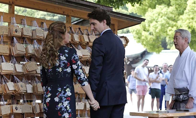 Justin and Sophie arrived in Tokyo on May 23 ahead of the G7 summit. The Canadian duo met with Japanese Prime Minister Abe Shinzo and celebrated their 11th wedding anniversary in between official duties.<br>Photo: © CP Images