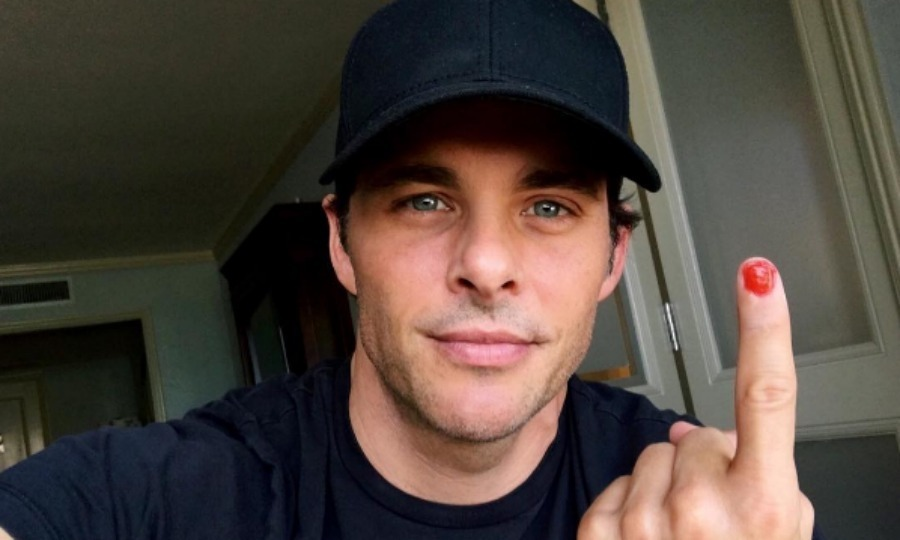 James Marsden did a shaky job at painting his nail for the #polishedman challenge after being nominated by Zac Efron. 