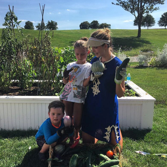 Teaching them young! Ivanka Trump was joined by her daughter Arabella and son Joseph for a summer evening of gardening.