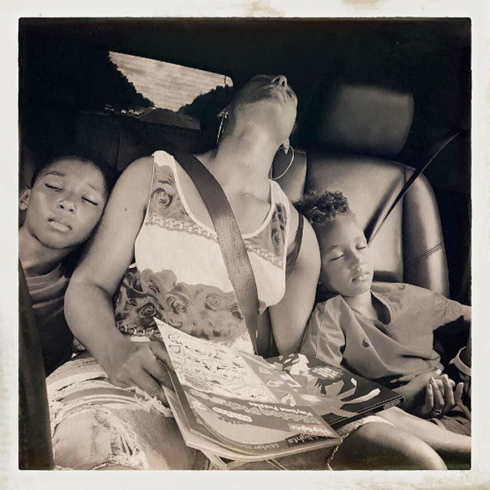 "Alicia Keys recovered from the holiday weekend sandwiched in a car between her stepson Kasseem Dean Jr. and son Egypt. The singer captioned the tender photo, ""When the weekend catches up with you and the sleep hits you HARD...  #laborday.""