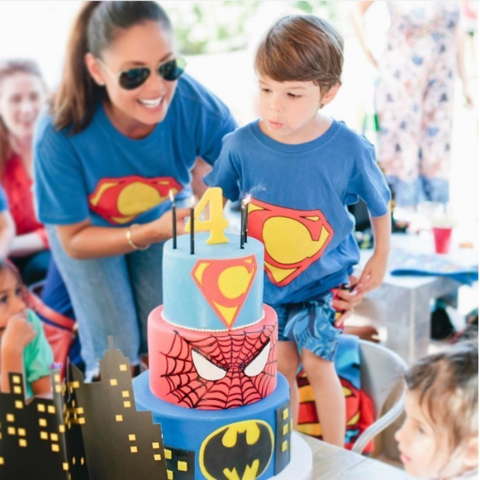 Vanessa Lachey was on birthday mommy duty during a fourth birthday party for her son with Nick Lachey, Camden. 