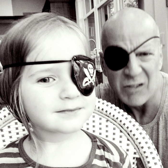 "Ahoy, mateys! It was dress up time for Bruce Willis and his daughter Evelyn. The actor and his youngest child channeled their inner pirates wearing eye patches. <em>The Sixth Sense</em> star's wife, Emma, shared the father-daughter moment on Instagram, writing, ""Shiver me timbers! #yohoyohoapirateslifeforme.""
