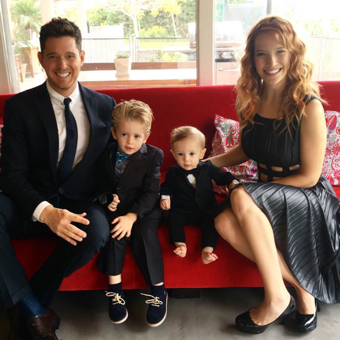 "Michael Bublé looked dapper in a suit alongside his smartly dressed sons, Noah and Elias, as he wished his Argentinian wife, Luisana Lopilato, a happy Mother's Day, celebrated in her country on October 15. Attached to the family portrait, the singer penned, ""#myhero #bestmommy #bestfriend.""