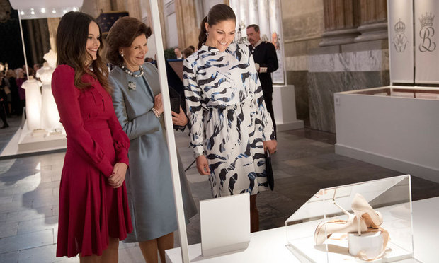 The women toured the exhibit at Stockholm's Royal Palace.
