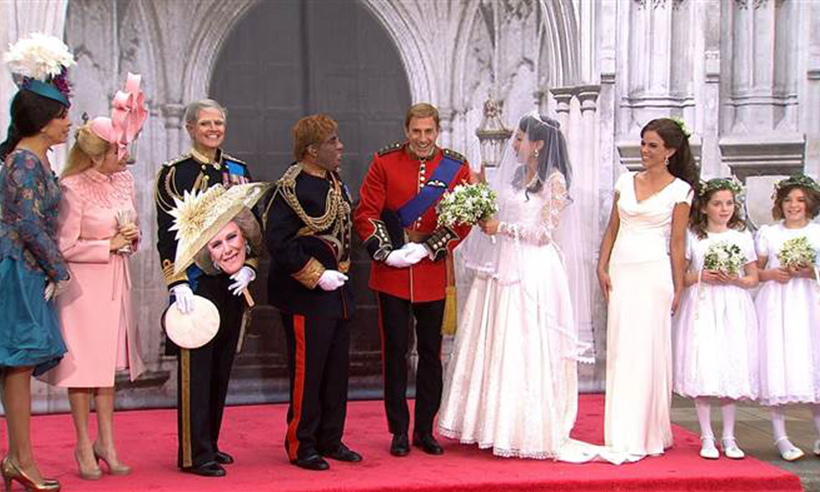 In 2011, the cast of the Today show recreated Prince William and Kate's royal wedding. 