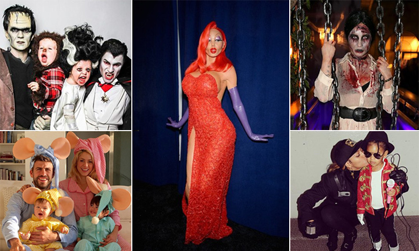 From Heidi Klum's masterpieces to Beyoncé and Blue Ivy channelling Michael and Janet Jackson, here are some of the best ever celebrity Halloween costumes.
