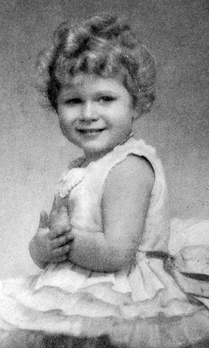The Queen when she was just three years old. 
