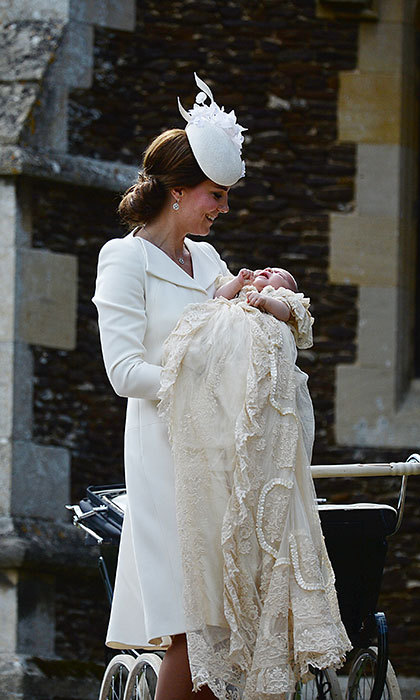 Charlotte was christened in the same gown as Queen Elizabeth. 