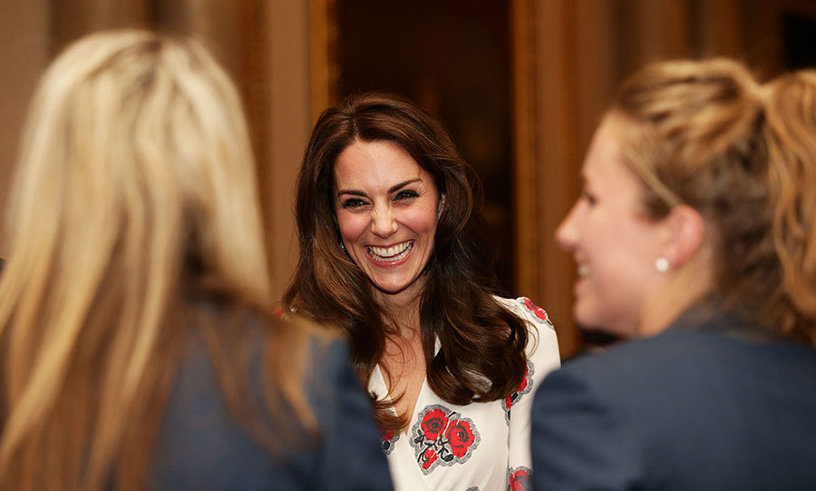 The Duke and Duchess of Cambridge and Prince Harry all joined the Queen to host the Olympic and Paralympic heroes at a special reception at Buckingham Palace on Tuesday (Oct. 18) evening.