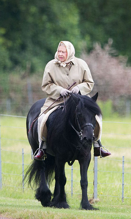 The Queen is renowned for her love of horse riding. 