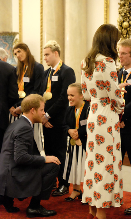 "Prince Harry greeted the sporting stars with his trademark charm and humour. ""He just hugged me!"" said swimmer Ellie Simmonds (pictured).