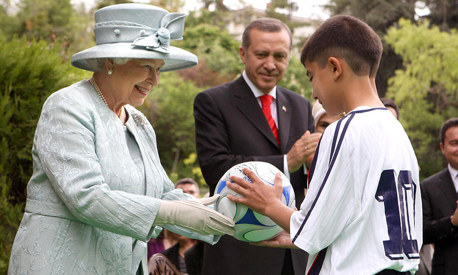 The Queen is reportedly a fan of football. 