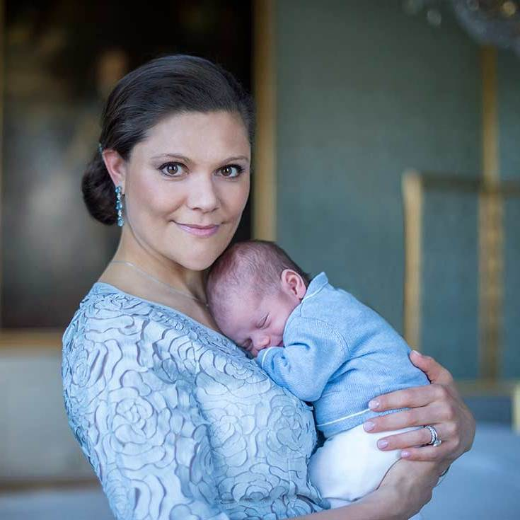 Crown Princess Victoria and Prince Oscar.