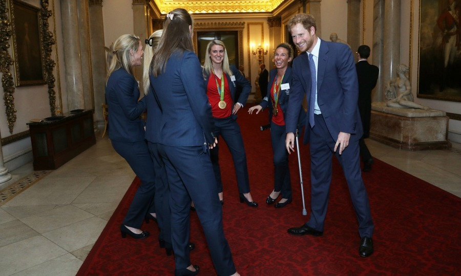 """Prince Harry described me as a crab and was impersonating me!"" said goalkeeper Maddie Hinch.