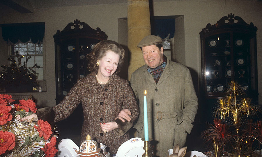 The Countess with the 8th Earl Spencer. 