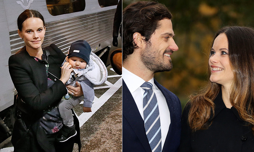 Prince Carl Philip and Princess Sofia of Sweden set off for a day of engagements in their duchy Värmland on Friday (Oct. 21) with a very special travel companion, their six-month-old son Prince Alexander. 