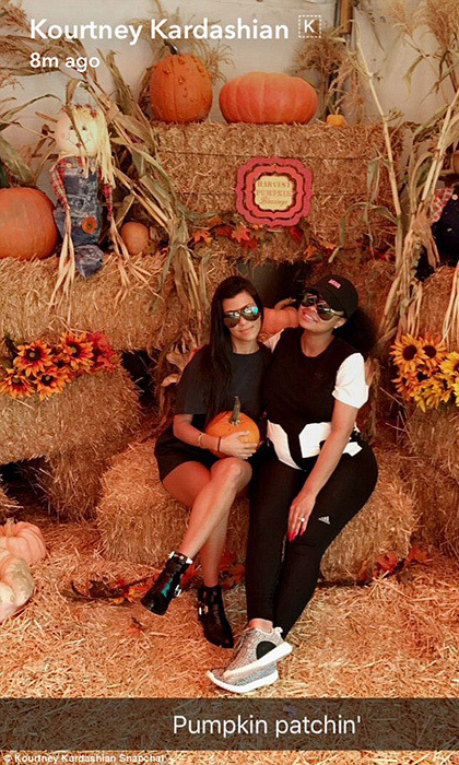 It's no secret that Kourtney Kardashian is a huge fan of all things Halloween. Here she is snapchatting with her soon to be sister-in-law Blac Chyna.