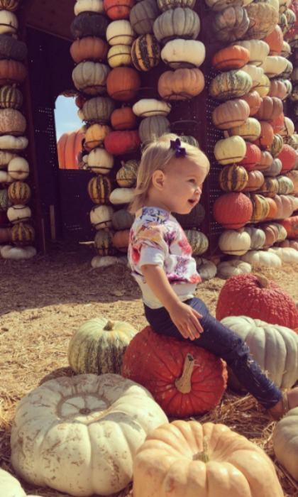 "Vanessa Lachey found the ""perfect little pumpkin"" in her daughter Brooklyn. 