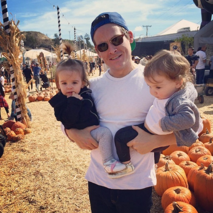Kevin Zegers had some fun at the patch with his little ladies.