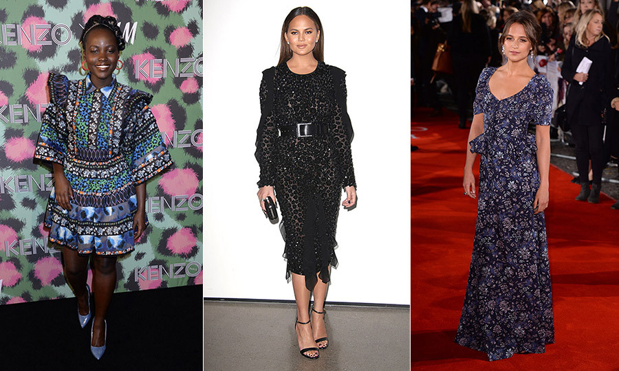 Red carpets were calling this week as celebrities like Lupita Nyong'o, Chrissy Teigen and Alicia Vikander donned their finest to toast brands like Kenzo and Michael Kors, attend film festivals and awards shows, and promote new products. Click through to see who was on top of our best-dressed list this week...