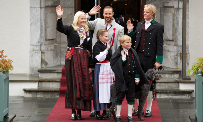 The couple's children Princess Ingrid, 12, Prince Sverre Magnus, 10, and 19-year-old Marius will not join their parents on the Canadian visit. 
