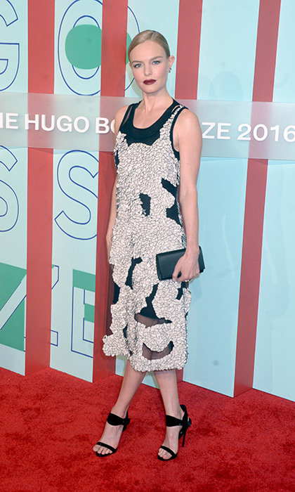 Kate Bosworth wowed in a chic monochromatic dress to attend the Hugo Boss Prize event in New York.