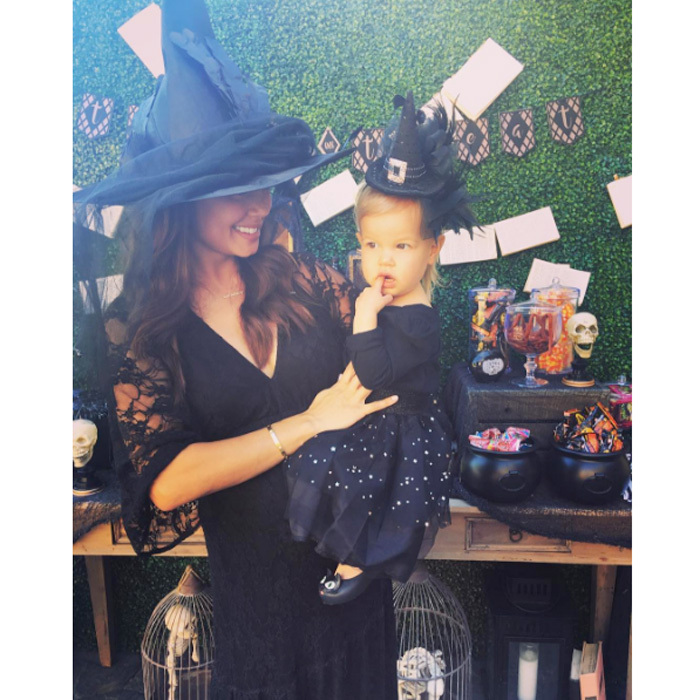 "Vanessa Lachey and daughter Brooklyn made the cutest pair of witches at their ""Witches & Wizards Pumpkin Party.""