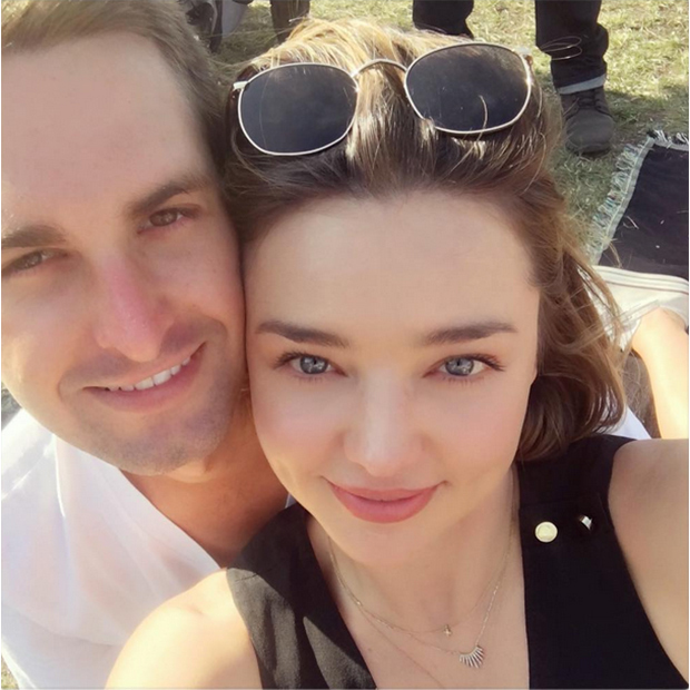 <h2>Miranda Kerr and Evan Spiegel</h2>