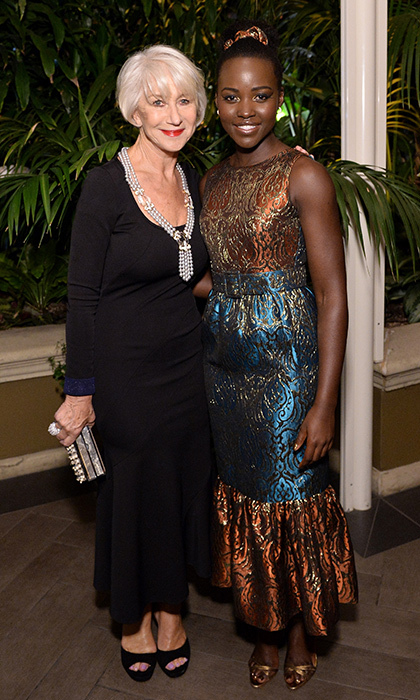 Helen Mirren in Victoria Beckham and Lupita Nyong'o