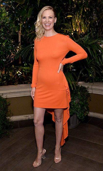 January Jones in Antonio Berardi