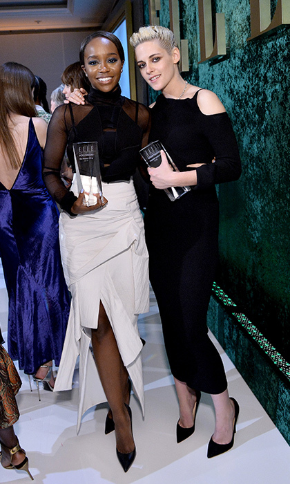 Aja Naomi King and Kristen Stewart