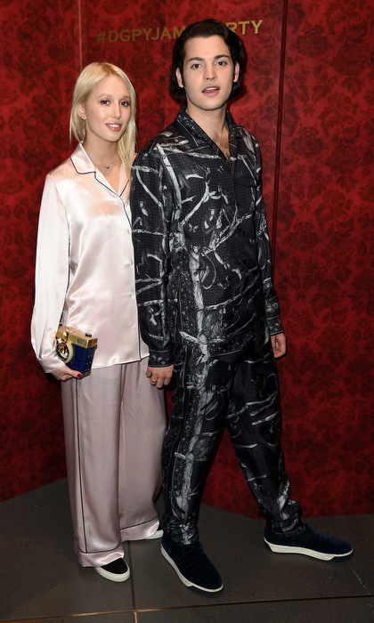 This princess can rock pyjamas just as easily as designer dresses! Olympia attended the 2016 Dolce & Gabbana pyjama party wearing pink silk pjs with Peter Brant Jr. in New York City. 