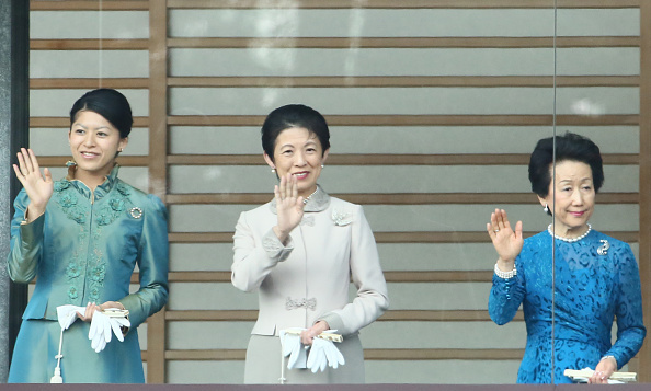 From left to right: Princess Tsuguko, Princess Hisako of Takamado and Princess Hanako of Hitachi sported sharply tailored ensembles at a New Year's event in Tokyo. 