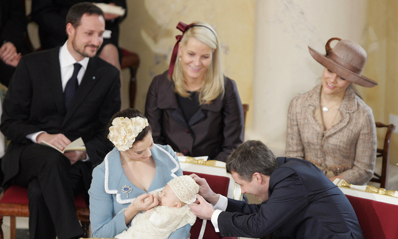 9. Speaking of godparents, Mette-Marit is the godmother of Prince Frederik and Princess Mary of Denmark's son Prince Christian. 