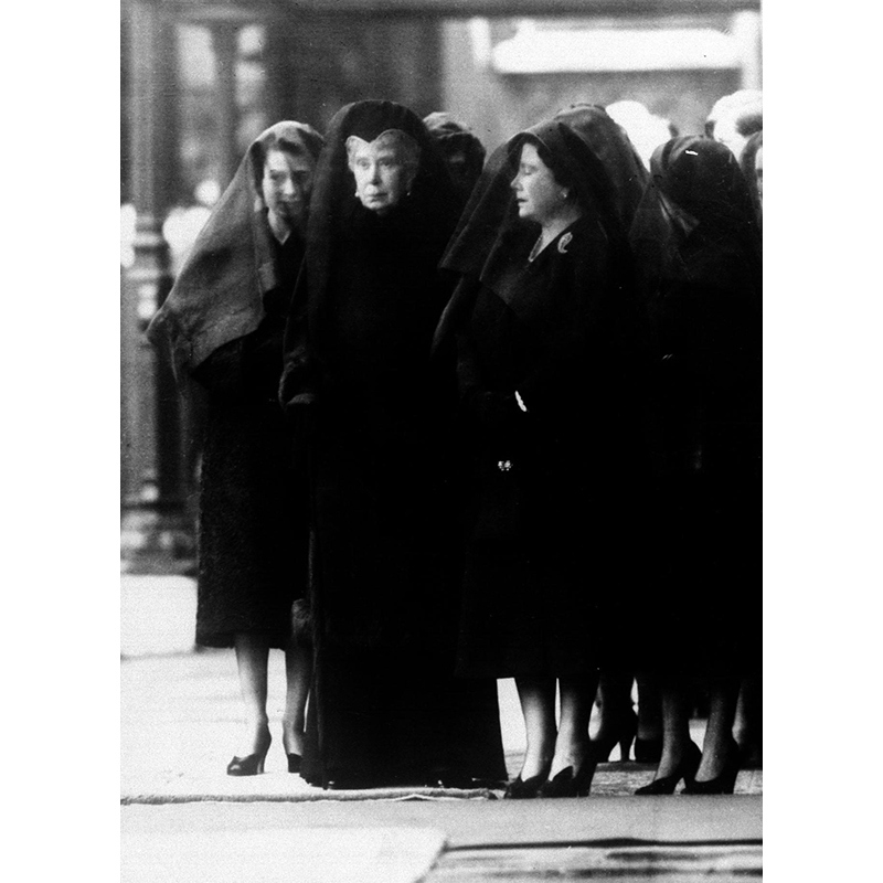 The King's daughter Princess Margaret, his mother, the dowager queen Mary, and his wife, the Queen Mother, attend his funeral. Just over a year later, on June 2, 1953, his daughter Elizabeth was officially crowned at her own coronation.