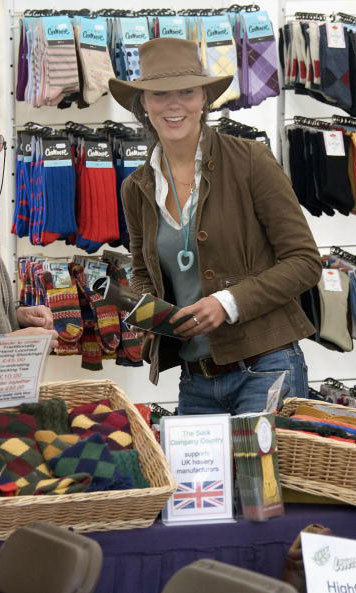 Stocking up on socks! Duchess Kate isn't one to let her feet get cold. The royal was snapped shopping during the second day of the Gatcombe Park Festival of British Eventing at Gatcombe Park in 2005.