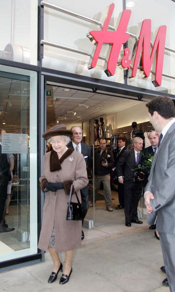 Queen Elizabeth II and Prince Philip popped into an H&M store while touring the redeveloped King Edward Court Shopping Centre in 2008.